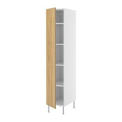 ФАКТУМ Высок шкаф с полками - Норье дуб, 60x211 см