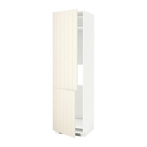 МЕТОД Высокий шкаф д/холод/мороз/2дверцы - Хитарп белый с оттенком, белый