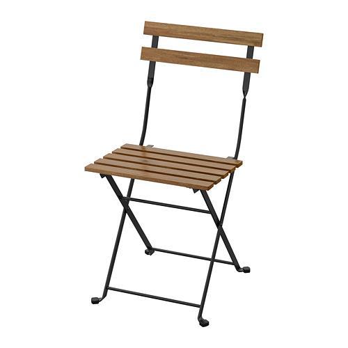 Ikea Sedie Pieghevoli Giardino.Sedia Da Giardino Pieghevole Tarno Color Nero Marrone Chiaro
