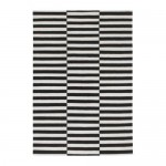 STOCKHOLM rug, lint-free handmade / striped black / white with a touch of 170x240 cm