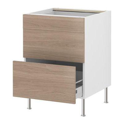 ФАКТУМ Напольный шкаф с 3 ящиками - Софилунд светло-серый, 60 см
