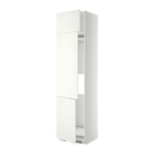 МЕТОД Выс шкаф для хол/мороз с 3 дверями - 60x60x240 см, Хэггеби белый, белый