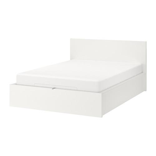 Malm Bed With Lifting Mechanism White 160x200 Cm