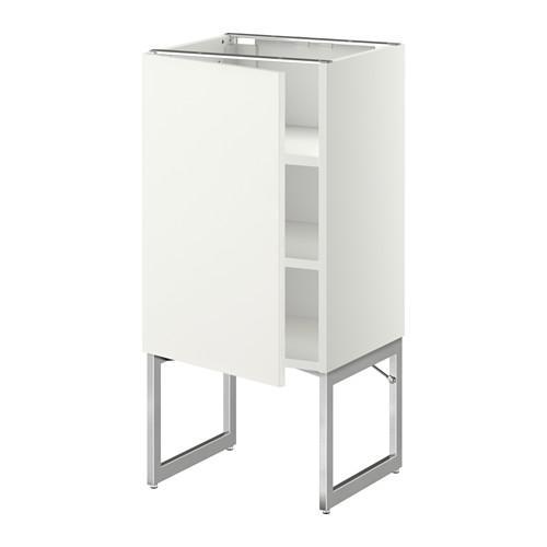 МЕТОД Напольный шкаф с полками - 40x37x60 см, Хэггеби белый, белый