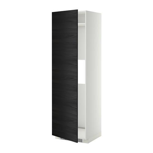 МЕТОД Выс шкаф д/холод или мороз, с дверц - Тингсрид под дерево черный, белый