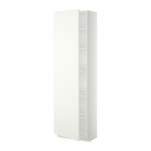 МЕТОД Высок шкаф с полками - 60x37x200 см, Хэггеби белый, белый