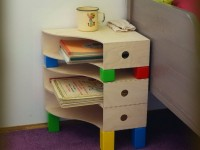 DIY bedside table for a child's room