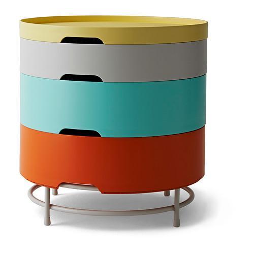 ИКЕА ПС 2014 Столик с отделениями д/хранения - разноцветный