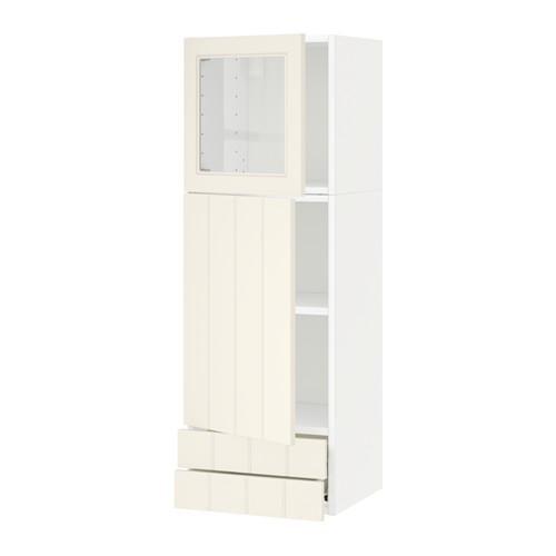 METHOD / FORVARA Wall cabinet / dd / stack dv / 2 drawers - white, with a touch of white Hitarp
