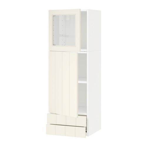 VERFAHREN / FORVARA Wandschrank / tt / Stapel dv / 2 Schubladen - weiß, mit einem Hauch von Weiß Hitarp