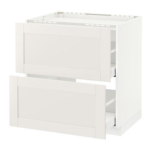 МЕТОД / МАКСИМЕРА Напольн шкаф/2фронт пнл/3ящика - 80x60 см, Сэведаль белый, белый