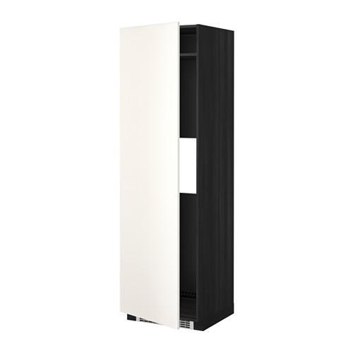 МЕТОД Выс шкаф д/холод или мороз, с дверц - Веддинге белый, под дерево черный