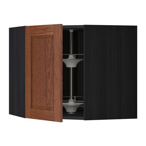 МЕТОД Угл нвсн шкф с вращающ секц - 68x60 см, Филипстад коричневый, под дерево черный