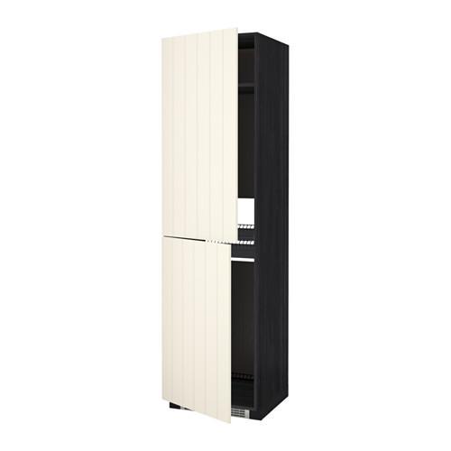 МЕТОД Высок шкаф д холодильн/мороз - 60x60x220 см, Хитарп белый с оттенком, под дерево черный