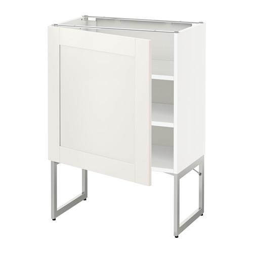 МЕТОД Напольный шкаф с полками - 60x37x60 см, Сэведаль белый, белый