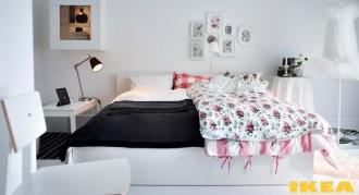 Interiér ložnice z IKEA