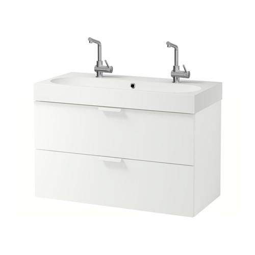 GODMORGON / Bråviken cabinet sinks with 2 drawers - white