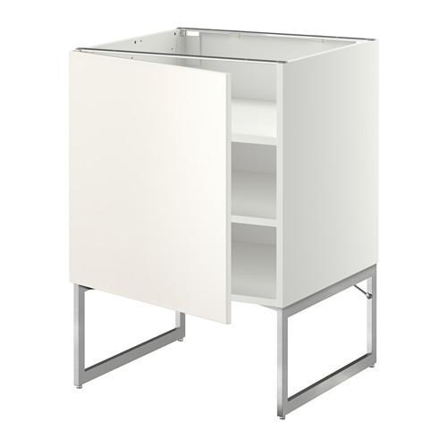 МЕТОД Напольный шкаф с полками - 60x60x60 см, Веддинге белый, белый