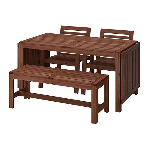 Applaro Table Chaises 2 Banc De Jardin Teinte Bois Brun 990 539 71 Critiques Prix Ou Acheter