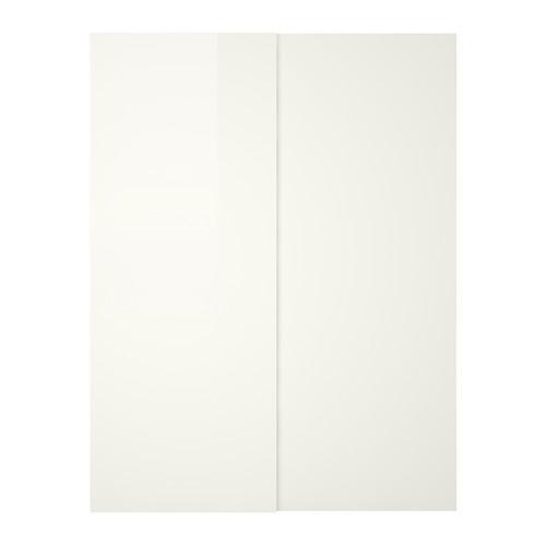 hasvik paire de portes coulissantes 150x236 cm commentaires prix o acheter. Black Bedroom Furniture Sets. Home Design Ideas