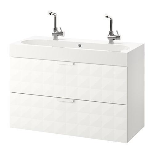 GODMORGON / BROVIKEN Waschbeckenschrank mit 2-Schublade ...