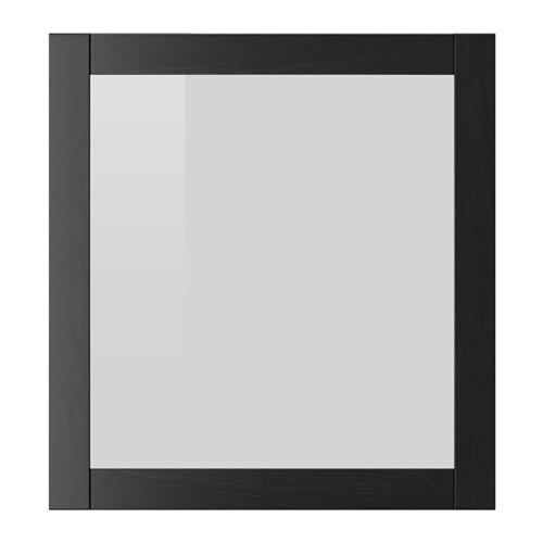СИНДВИК Стеклянная дверь - черно-коричневый