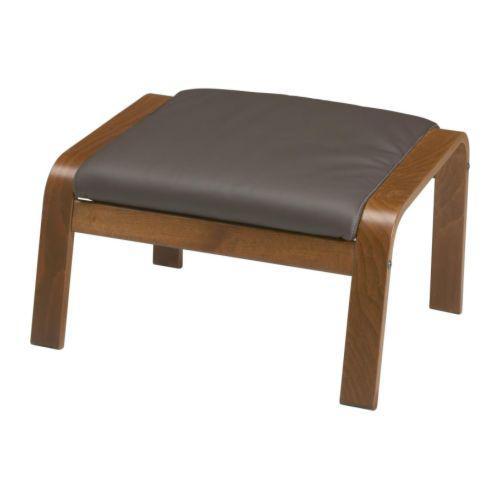 ПОЭНГ Табурет для ног - Робуст темно-коричневый, классический коричневый
