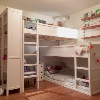 Compact children's for three children