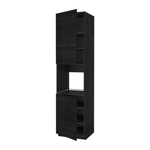MÉTHODE grand cabinet d / four / 2dvertsy / étagères - bois noir, bois Tingsrid noir, 60x60x240 cm