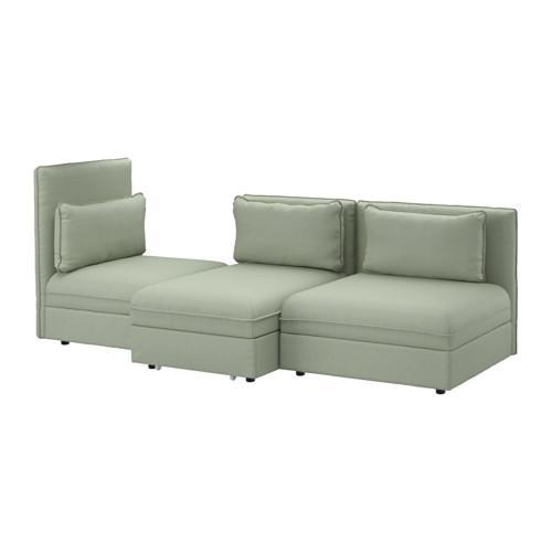 ВАЛЛЕНТУНА 3-местный диван-кровать - Хилларед зеленый, Хилларед зеленый