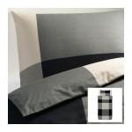 БРУНКРИСЛА Пододеяльник и 1 наволочка - черный/серый, 150x200/50x70 см