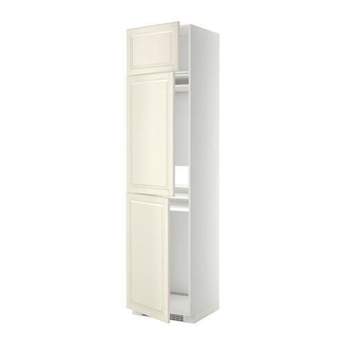 МЕТОД Выс шкаф для хол/мороз с 3 дверями - Будбин белый с оттенком, белый