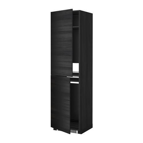 МЕТОД Высок шкаф д холодильн/мороз - 60x60x220 см, Тингсрид под дерево черный, под дерево черный