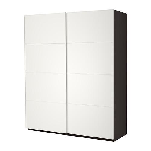 Catalogo Ikea Armadi Ante Scorrevoli.Armadio Pax Con Ante Scorrevoli Nero Marrone Mehamn Bianco