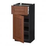 МЕТОД / МАКСИМЕРА Напольный шкаф с ящиком/дверью - 40x37 см, Филипстад коричневый, под дерево черный
