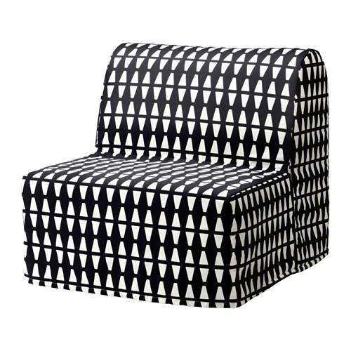 ЛИКСЕЛЕ МУРБО Кресло-кровать - Эббарп черный/белый, -