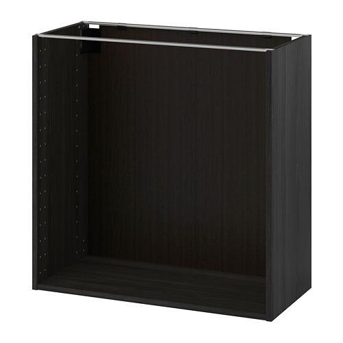 МЕТОД Каркас напольного шкафа - под дерево черный, 80x37x80 см