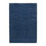 АЛЬХЕДЕ Ковер, длинный ворс - синий, 160x240 см
