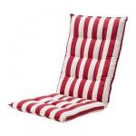 ХОЛЛО Подушка спинная/на сиденье - в полоску/красный