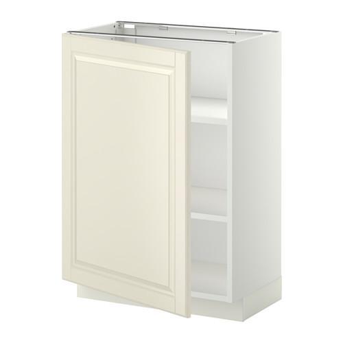МЕТОД Напольный шкаф с полками - 60x37 см, Будбин белый с оттенком, белый