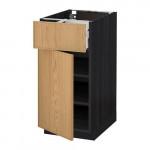 МЕТОД / МАКСИМЕРА Напольный шкаф с ящиком/дверью - 40x60 см, Экестад дуб, под дерево черный