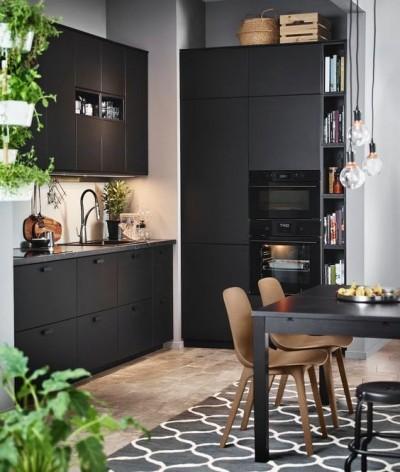 Kjøkken i svart