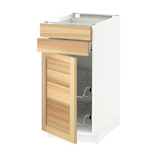 MÉTHODE / plancher FORVARA armoire / porte / 2yasch / prvl krzn - blanc, Torhemn frêne naturel, 40x60 cm