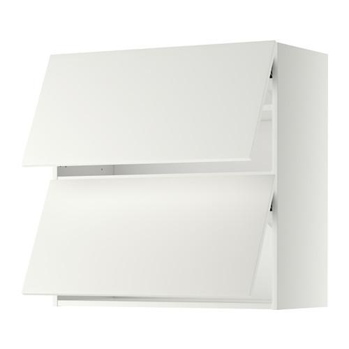 МЕТОД Навесной шкаф/2 дверцы, горизонтал - 80x80 см, Хэггеби белый, белый