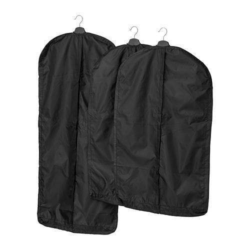 СКУББ Чехол для одежды, 3 штуки - черный