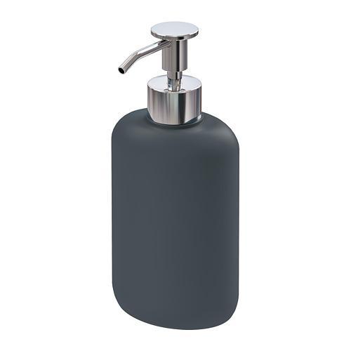 Distributeur de savon EKOLN gris foncé 18 cm