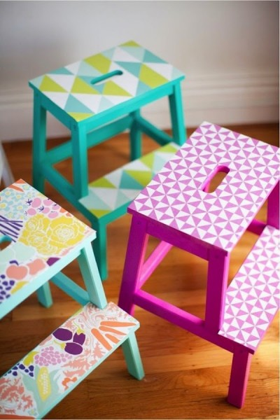 A couple of ideas for decorating the stool BEKVEM
