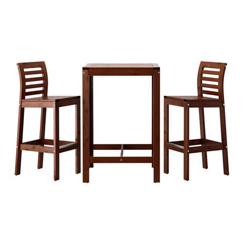 ЭПЛАРО Барный стол и 2 барных стула