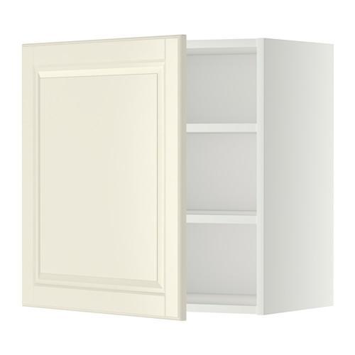 МЕТОД Шкаф навесной с полкой - 60x60 см, Будбин белый с оттенком, белый