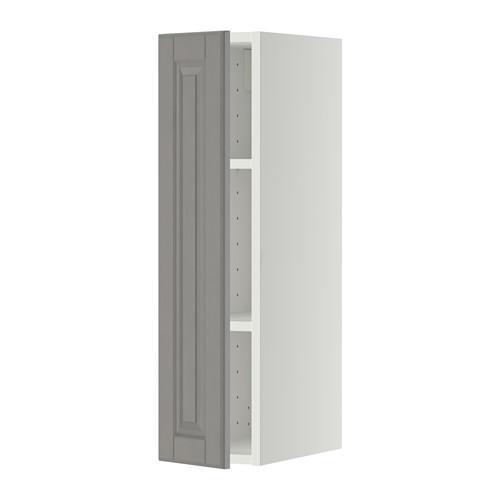 МЕТОД Шкаф навесной с полкой - 20x80 см, Будбин серый, белый